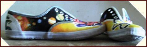 Hand painted planet shoes